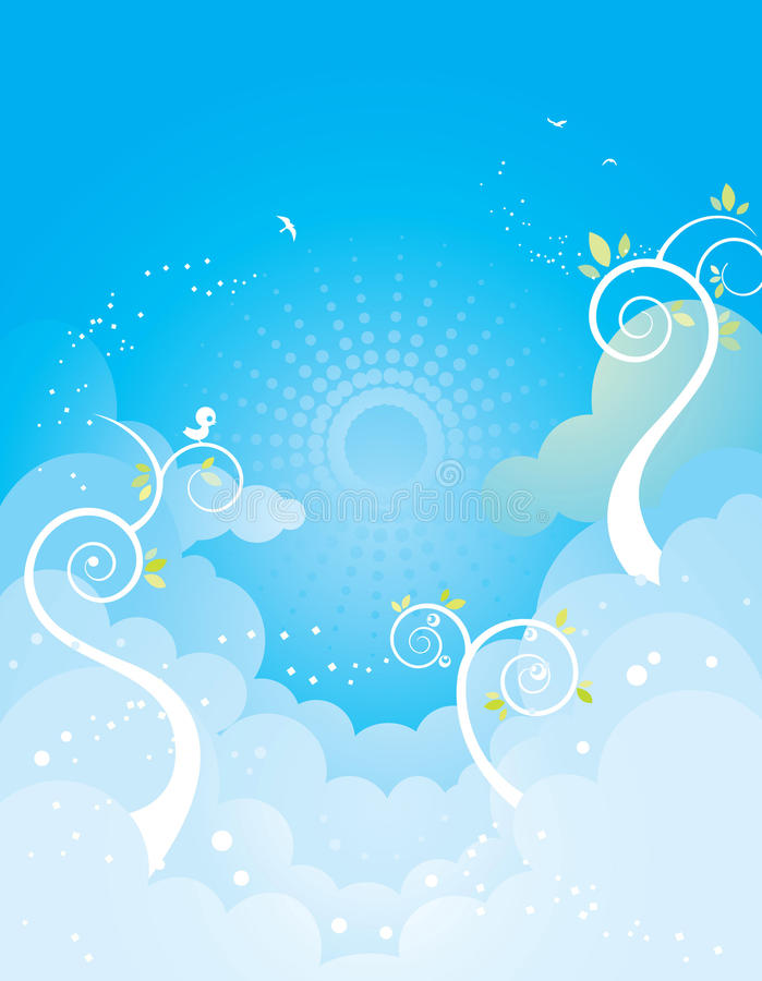Sky and plants vector illustration