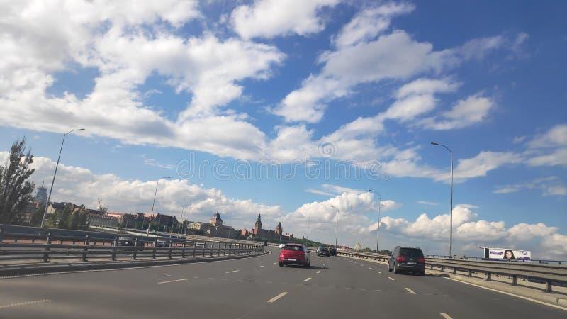 Sky Poland Szczecin stockbild