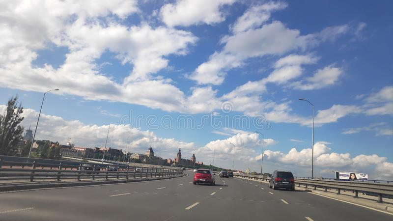 Sky Poland Szczecin. Traveling Poland Szczecin. Good times, sky beautiful nature stock image