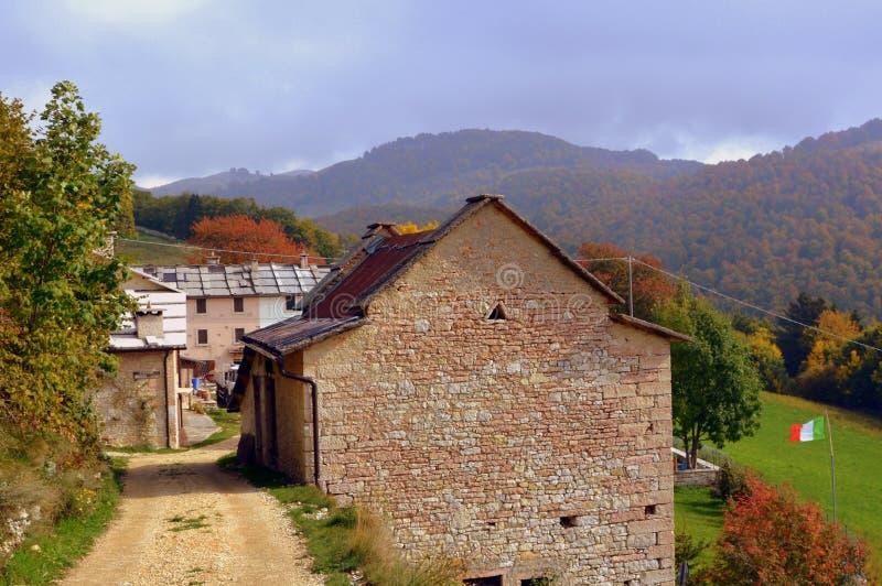 Sky, Property, Mountainous Landforms, Mountain Village stock photo