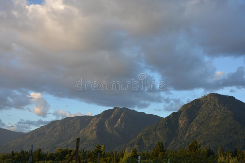 sky in pucon stock photography