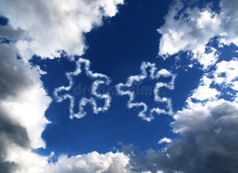 Download Sky Puzzle stock photo. Image of pieces, shapes, piece - 8666206