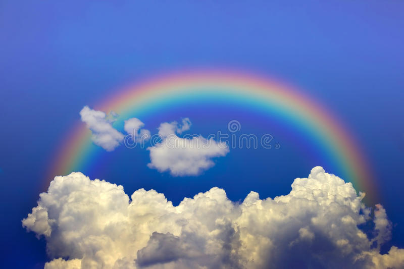 Download Sky and Rainbow stock image. Image of ecology, clouds - 11436667