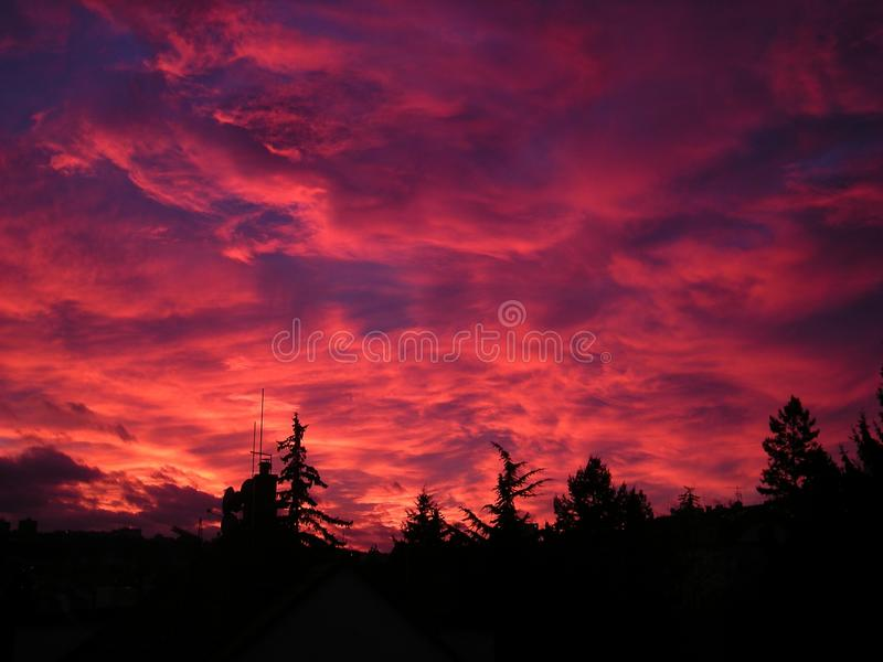 Sky, Red Sky At Morning, Afterglow, Sunset royalty free stock image