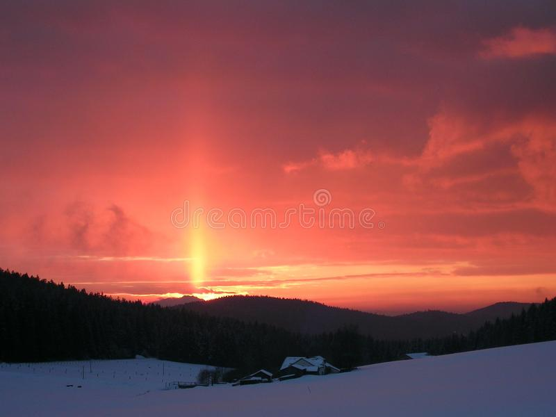 Sky, Red Sky At Morning, Afterglow, Sunrise royalty free stock photo