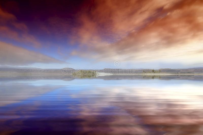 Sky, Reflection, Water, Horizon royalty free stock images