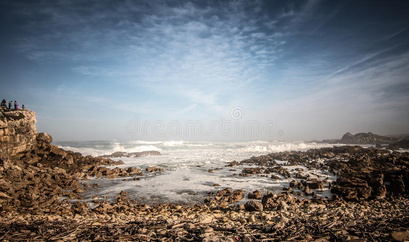 Sky with rock and stones stock image