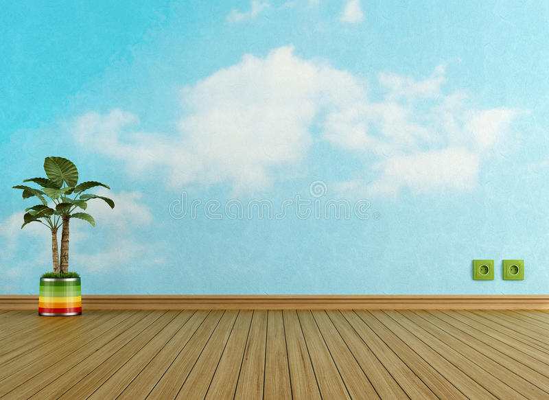 Download Sky in a room stock illustration. Illustration of minimalist - 29461578