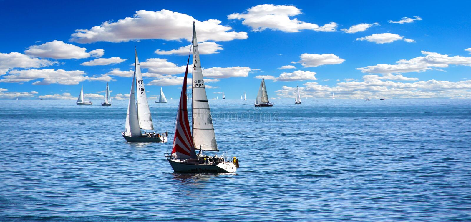 Sky, Sailboat, Sail, Water stock photo