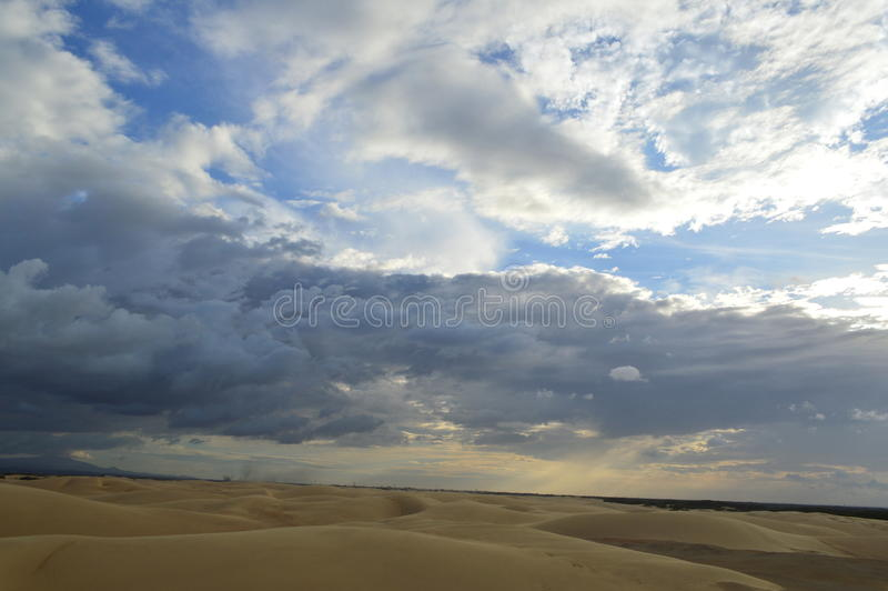 sky and sand dunes royalty free stock photo