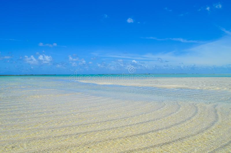 Sky, sand and sea in Brazil. Sky, and ocean in a famous region with a lot o beaches. This region called Maragogy city royalty free stock photo