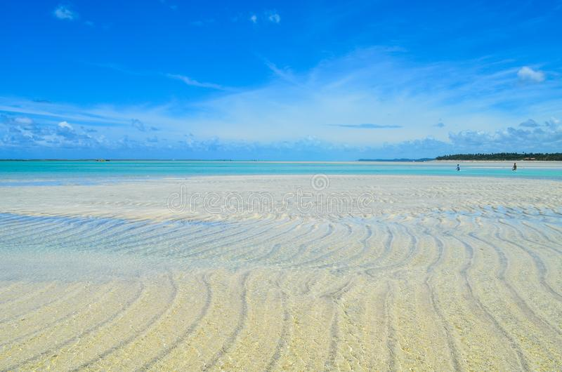 Sky, sand and sea in Brazil. Sky, and ocean in a famous region with a lot o beaches. This region called Maragogy city stock photos