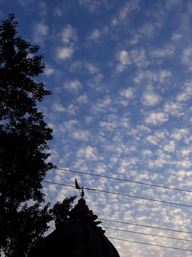 Sky scenes in the evening of india. It is the scenes of the sky in the evening of india state odisha special scenes rearly seen in the sky royalty free stock photo