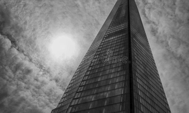 Sky scraper. In black and white royalty free stock photography