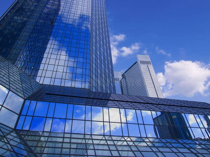 Download Sky-scraper and blue sky stock photo. Image of cluttered - 7170970
