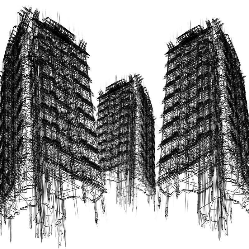 Sky-scrapers ilustração stock