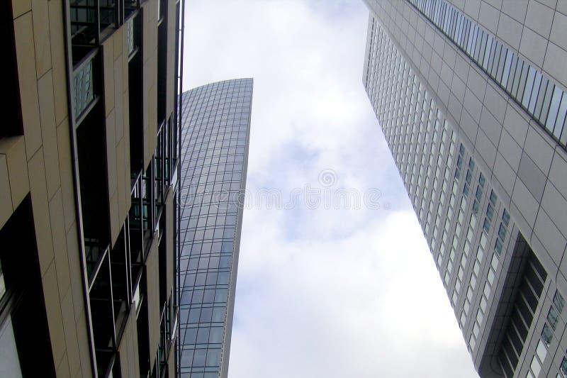Sky scrapers in Frankfurt. The city center of Frankfurt, where are numerous sky scrapers stock image