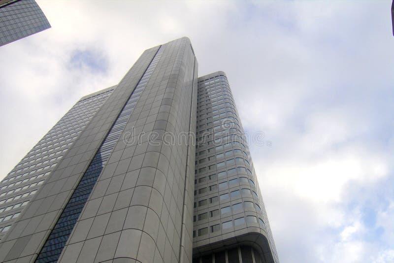 Sky scrapers in Frankfurt. The city center of Frankfurt, where are numerous sky scrapers stock images