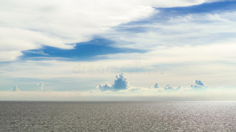 The sky and sea stock images