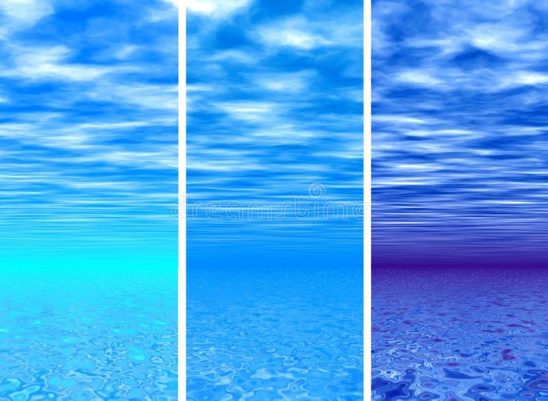 Sky & sea stock image