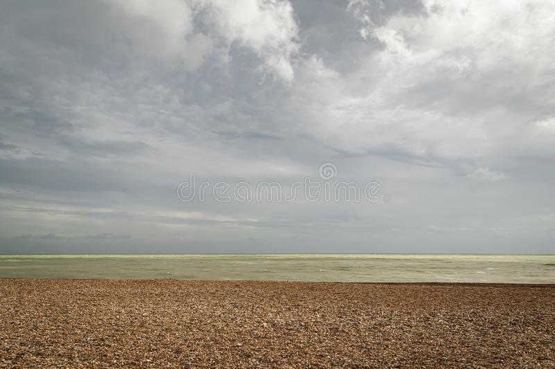 Sky, Sea and Beach. A tranquil image of the English Channel off the coast of England stock photography