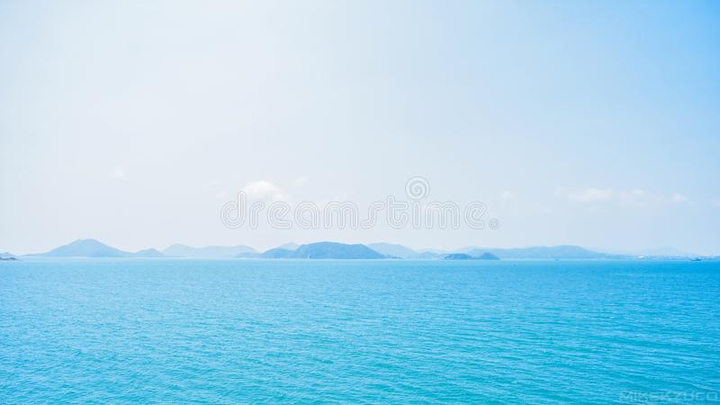 Sky and sea stock images