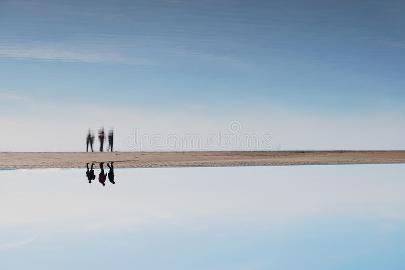 Between the sky and the sea. stock images