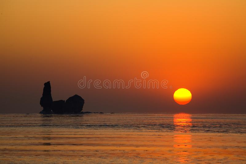 Download The Sky And The Sea Was The Golden Is Stock Image - Image of good, reflect: 9843939