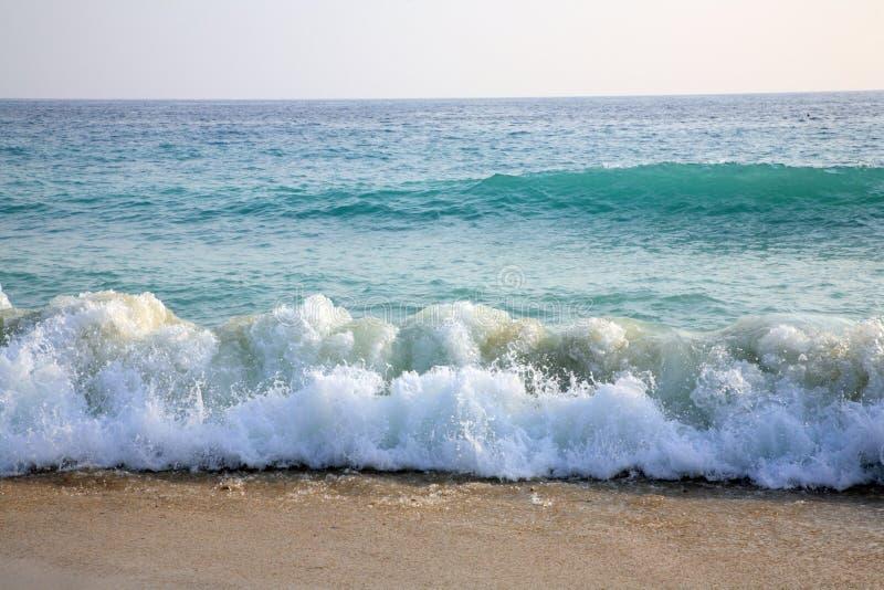 Sky, Sea, Waves And Sandy Beach. Stock Photography