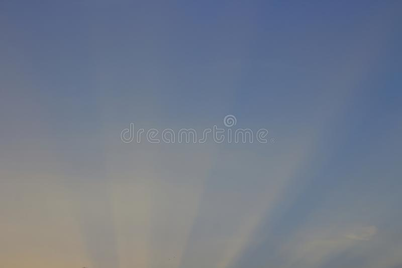 The sky is shining in the sun royalty free stock photo