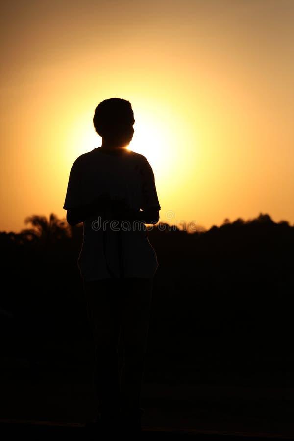 Sky, Silhouette, Sunrise, Standing Free Public Domain Cc0 Image
