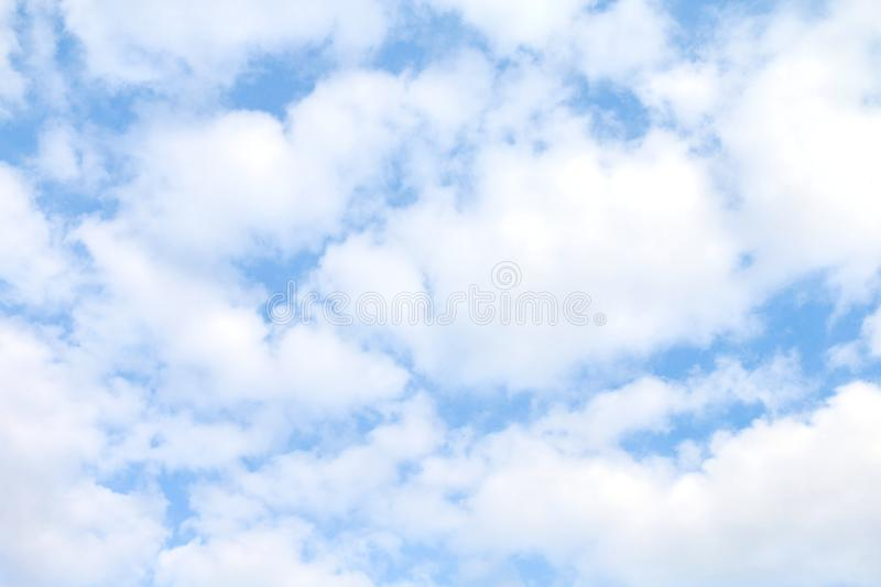Sky, sky blue fluffy clouds white, soft sky cloud background, cloudscape sky clear cloud. The sky, sky blue fluffy clouds white, soft sky cloud background stock image
