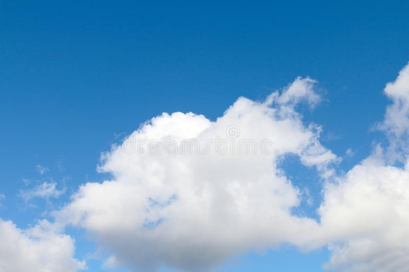Sky, sky with fluffy clouds big, sky blue cloud background, cloud landscape sky clear royalty free stock image