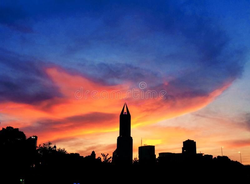 Sky, Skyline, Afterglow, Dawn royalty free stock photography