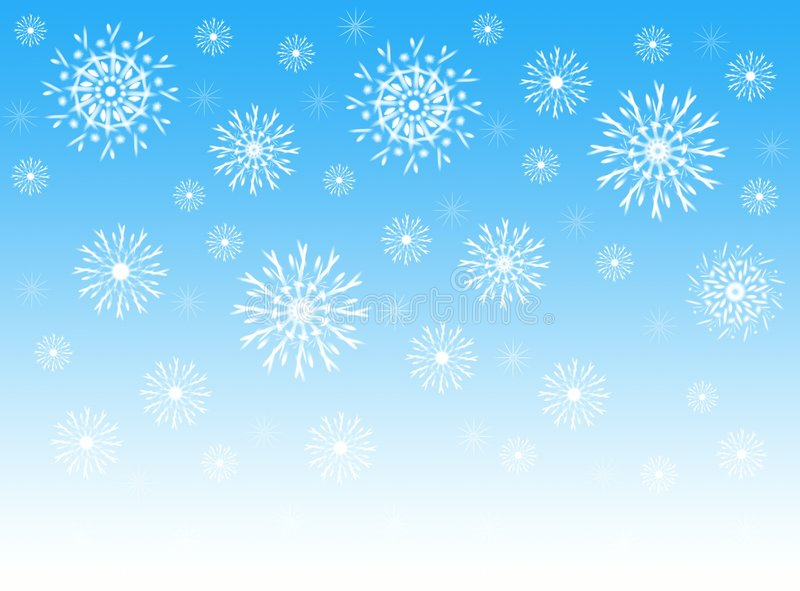 Download Sky and snowflakes stock illustration. Image of landscape - 1600078