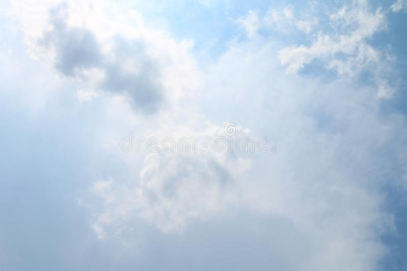 Sky, Soft Blue Sky Clear, Beautiful blue white sky fluffy clouds royalty free stock photo