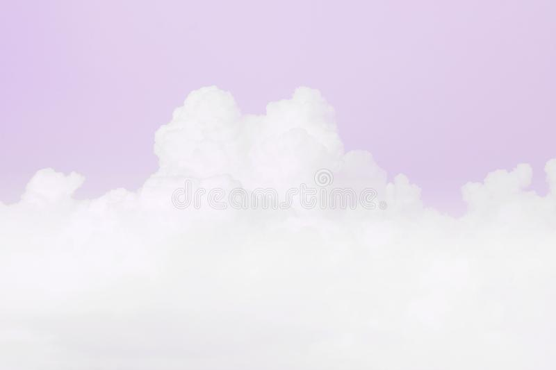 Sky soft cloud, sky pastel purple color soft background. Background sky purple soft cloud, sky pastel purple color background royalty free stock photo