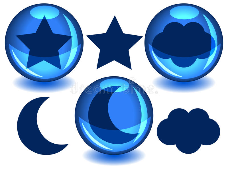 Download Sky spheres stock vector. Image of design, blue, shiny - 21601160