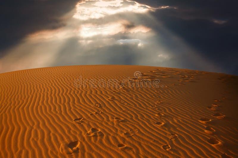 Download Sky Split Over The Desert Sand Stock Photo - Image: 9552906