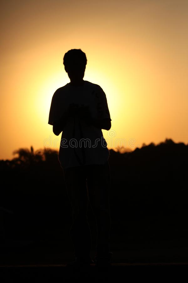 Sky, Standing, Silhouette, Sunrise Free Public Domain Cc0 Image
