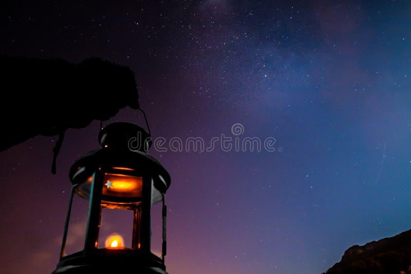 Sky stars stock image