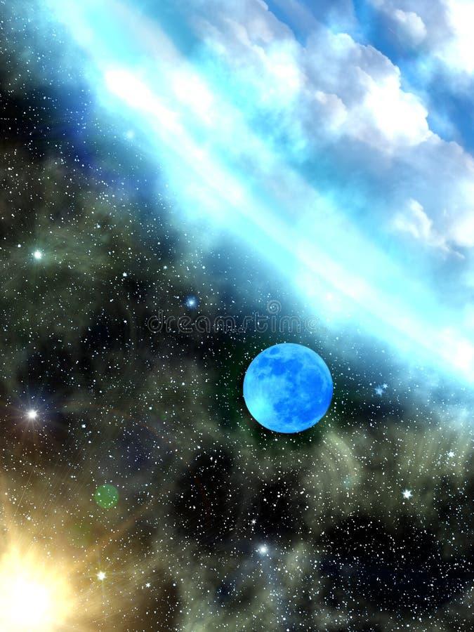 Sky stars Earth vector illustration
