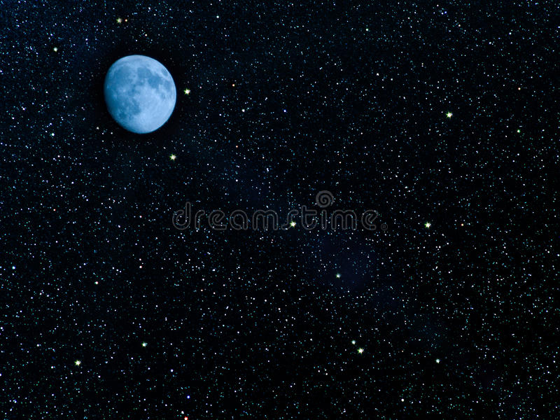 Sky stars planets stock images
