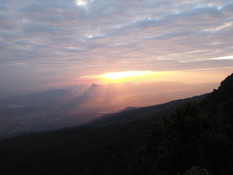 Sky sun cloud sunrises begin start royalty free stock photo