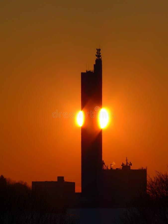 Sky, Sunrise, Tower, Sunset royalty free stock photo