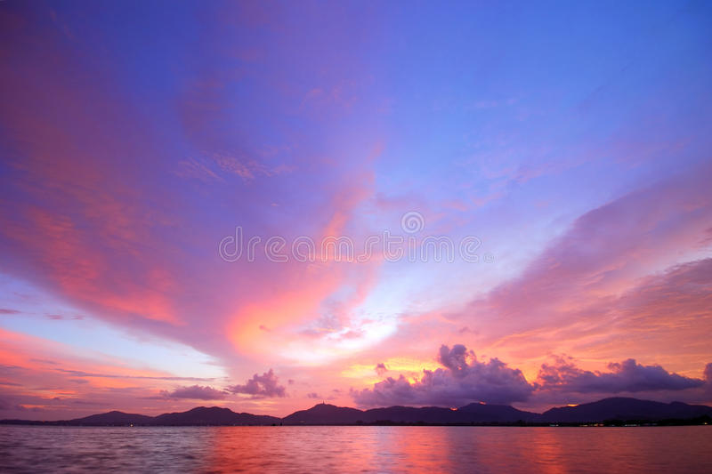 Sky after sunset royalty free stock photography