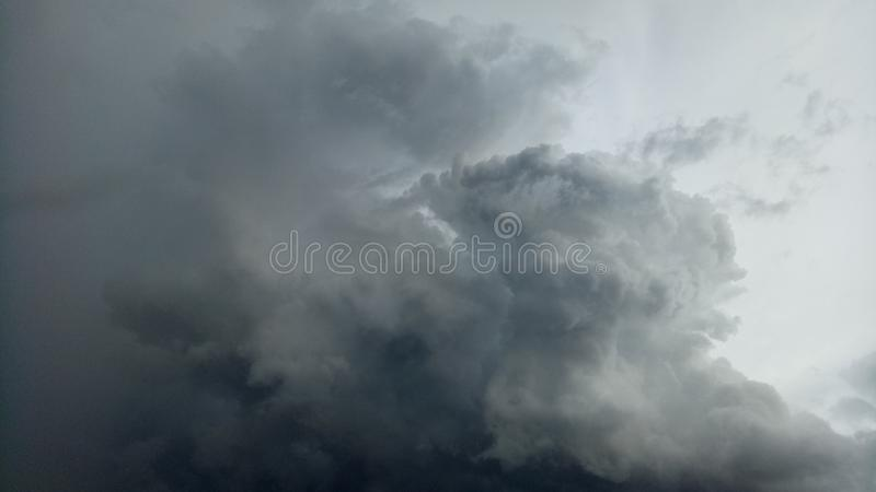 The sky at sunset. The sky is changing into a rainstorm cloud royalty free stock image