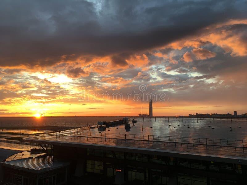 Sky, Sunset, Cloud, Afterglow stock photography