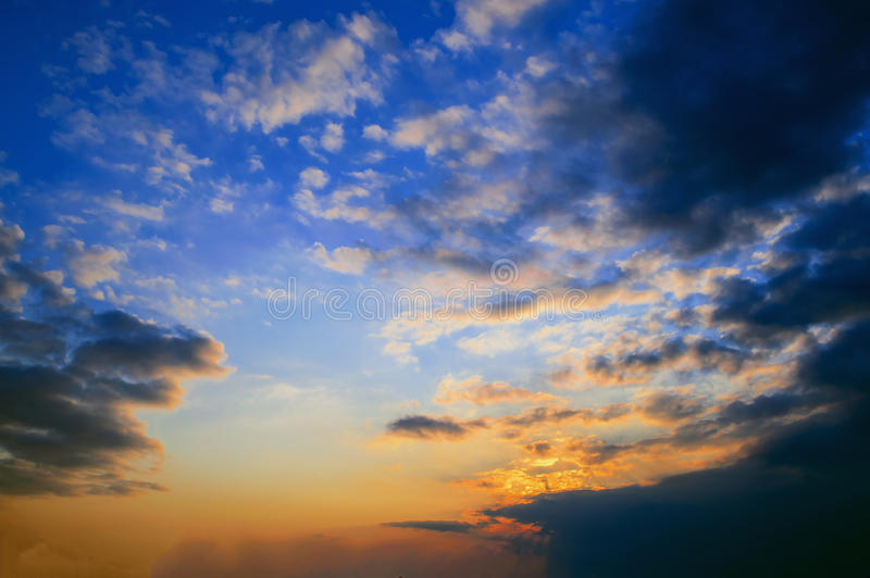 The sky at Sunset royalty free stock photo