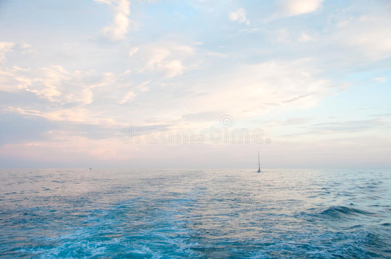 Sky. Before sunset in Newport Beach, CA, while whale watching royalty free stock images